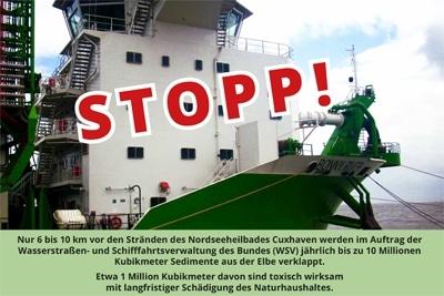 """Aufruf zur Demo """"Rettet Elbe und Wattenmmer"""" am 9.10.2020 in Cuxhaven."""