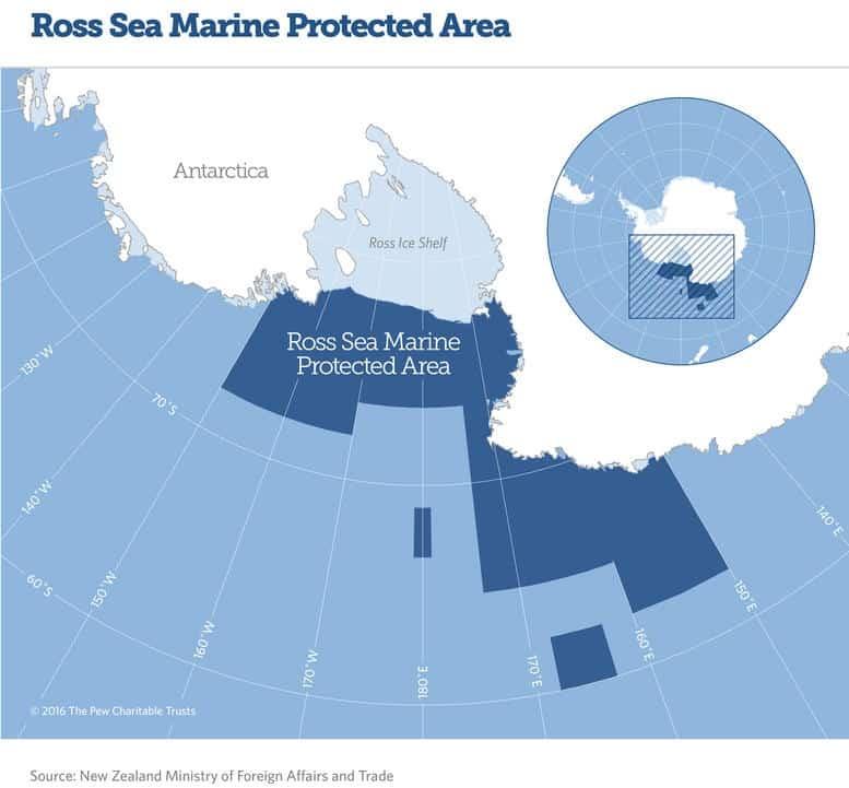 Karte Ross Sea Marine Proteced Area