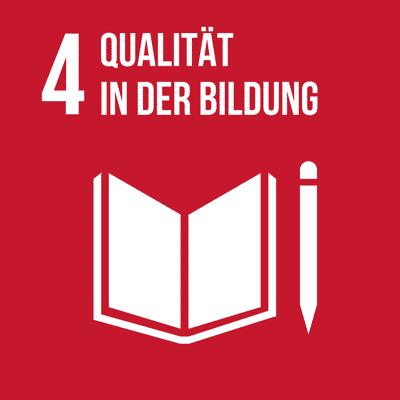 UN-Nachhaltigkeitsziel 4 Qualität in der Bildung.