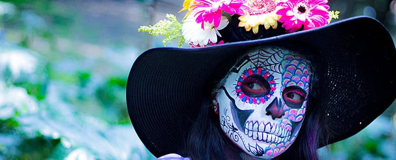 "Bunter Totenkopf ""day of the dead""."