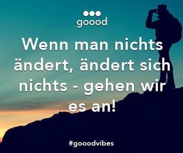 Mit goood gemeinsam die Welt verbessern.