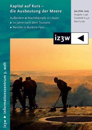 Cover Zeitschrift iz3w - Ausgabe 346 - Ausbeutung der Meere