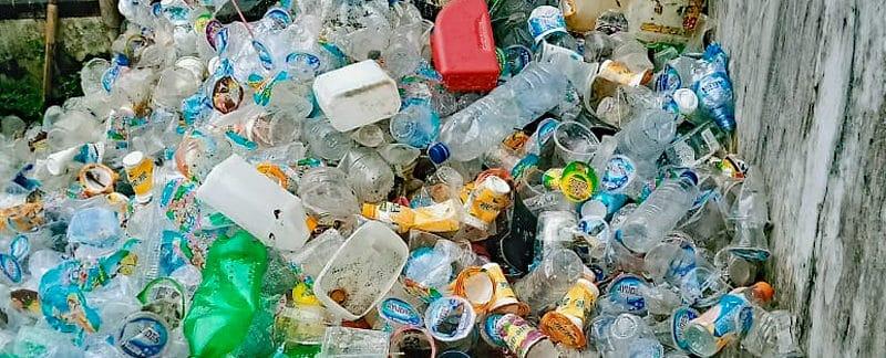 BandaSEA Sammelstation für Plastikmüll.