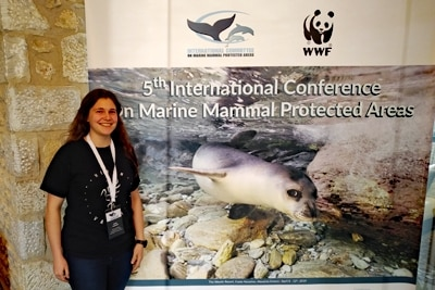 Nadja Hohenadl auf der 5. int Conference on Marine Mammal Protected Areas.