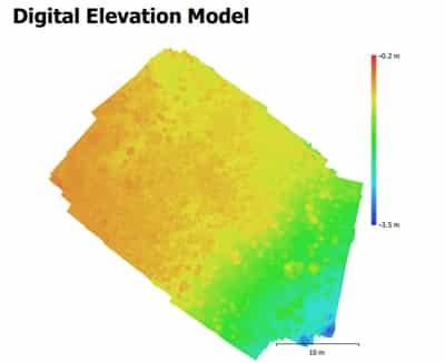 Digitales Höhenmodel Flachwasserkorallenriff. Von Pia Lewin