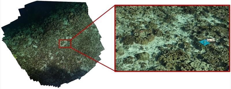 Karte Drohnenkartierung Korallenriffe in Palau. Von PiaLewin