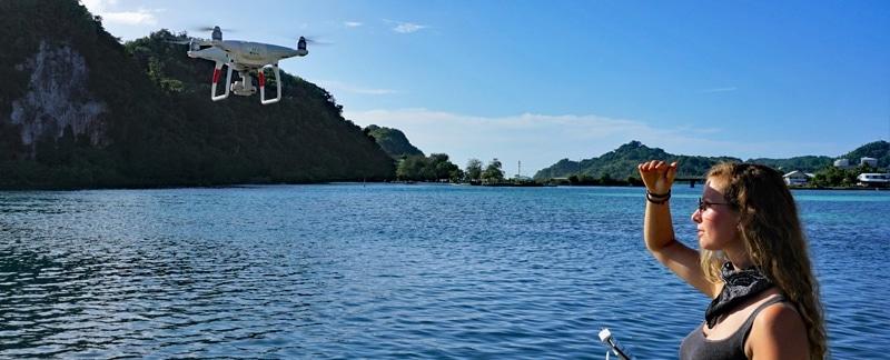 Fischvorhersage mit Drohnen - Palau