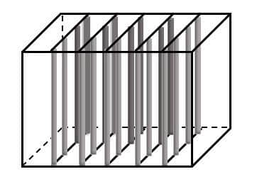 Modell eines Mangrovenimitats aus PVC-Rohren