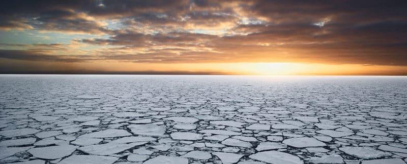 Packeisfeld im Ross-Meer, Antarktis.