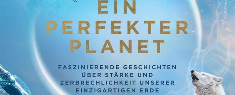 Ausschnitt Cover des Bildbands Ein perfekter Planet