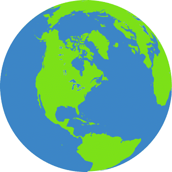 Grafik Erdhalbkugel zum Erdüberlastungstag 2020.