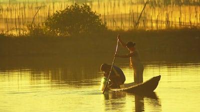 Vietnamesische Fischer.