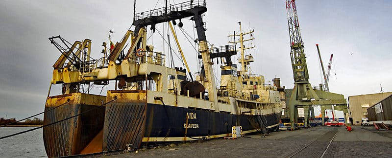 "Supertrawler ""NIDA"" in Bremerhaven."