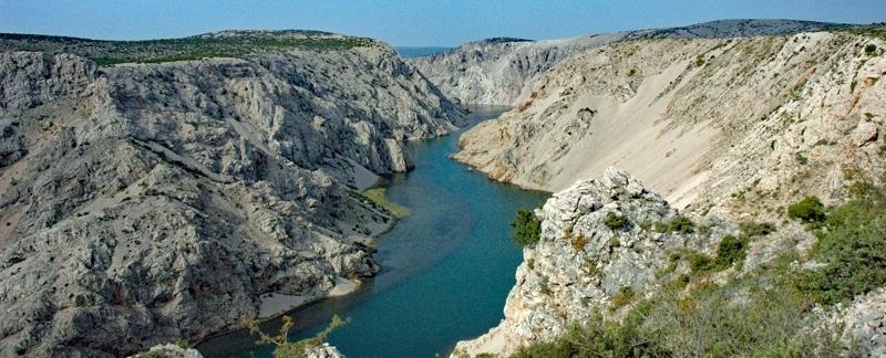 Der Fluss Zrmanja.