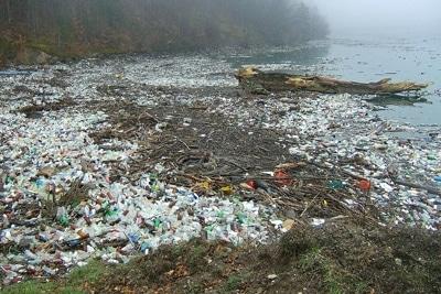 Mahnung zur Europäischen Woche der Abfallvermeidung: Plastikmüll am Strand.
