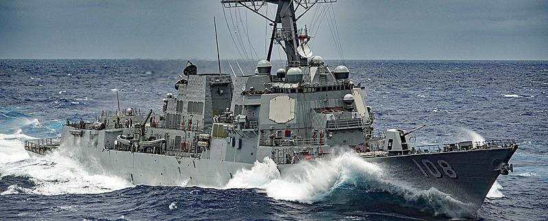 Zerstörer USS Wayne.