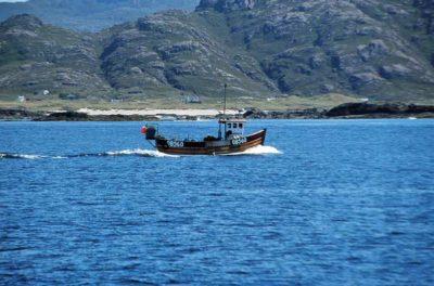 Keine Chance gegen Supertrawler: Fischkutter vor der Küste von Schottland.