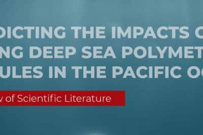 Predicting the impacts of mining deep sea polymetallic nodules in the Pacific Ocean.
