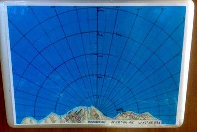 Karte für die Standardisierung der Ortsangaben von der Beobachtungsstation auf La Gomera.